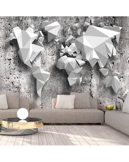 Stenska poslikava World Map Origami