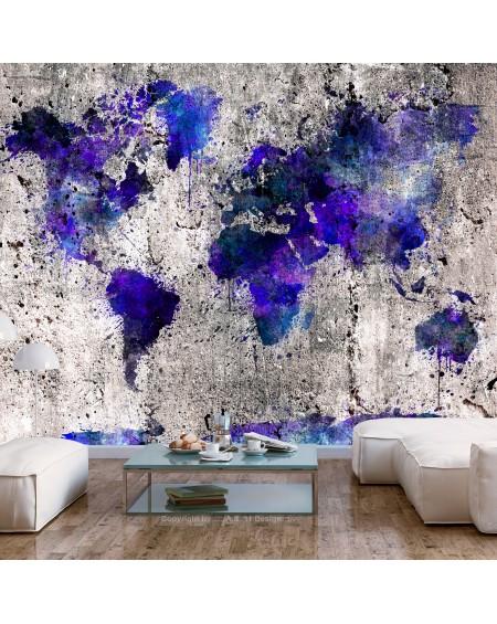 Stenska poslikava World Map Ink Blots