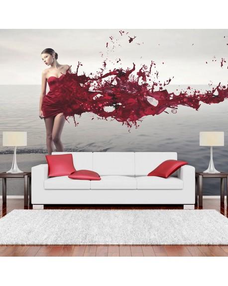 Stenska poslikava Red beauty