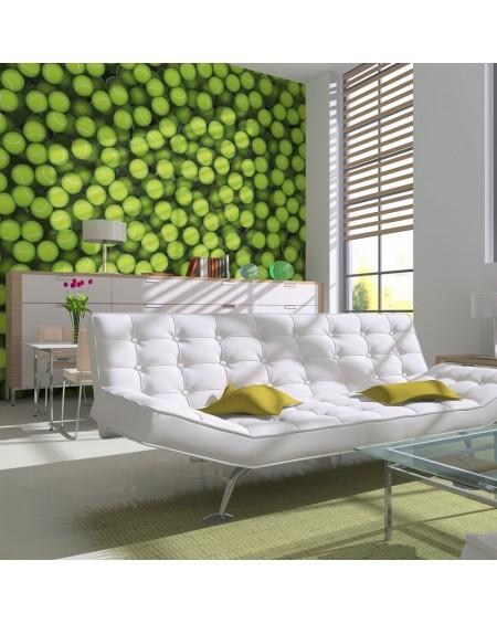 Stenska poslikava - Tennis balls - background