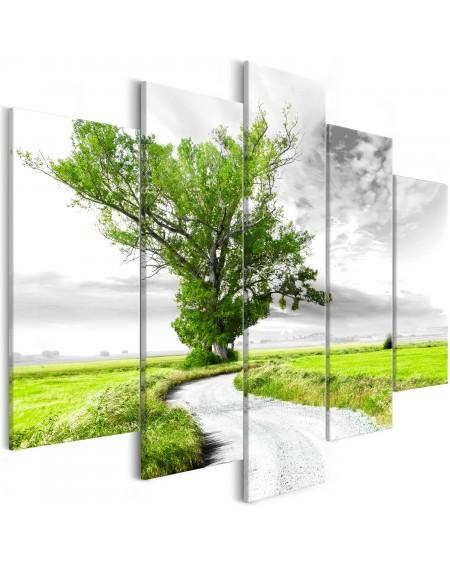 Slika Tree near the Road (5 Parts) Green