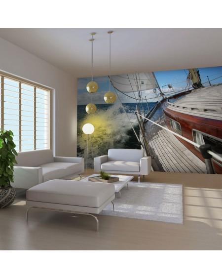 Stenska poslikava - A boat in the sea