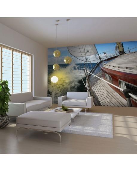 Stenska poslikava A boat in the sea
