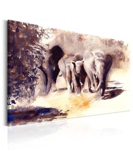 Slika Watercolour Elephants