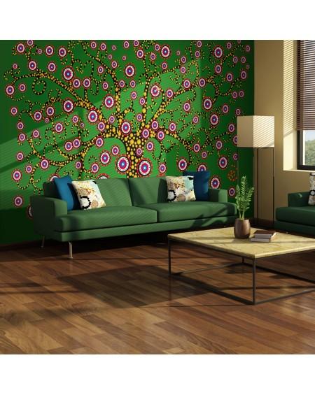 Stenska poslikava abstract tree (green)
