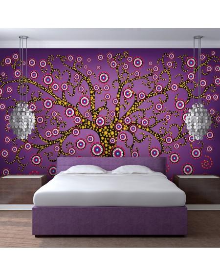Stenska poslikava abstract tree (violet)