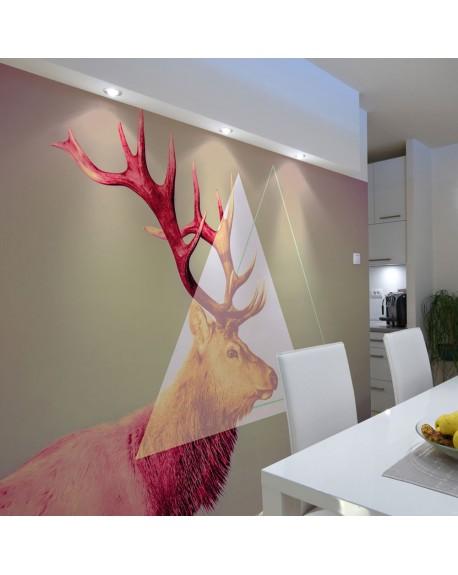 Stenska poslikava deer (graphic pattern)