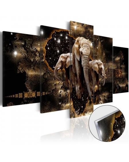 Akrilni tisk Brown Elephants [Glass]