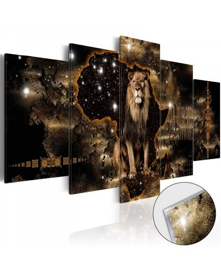 Akrilni tisk Golden Lion [Glass]