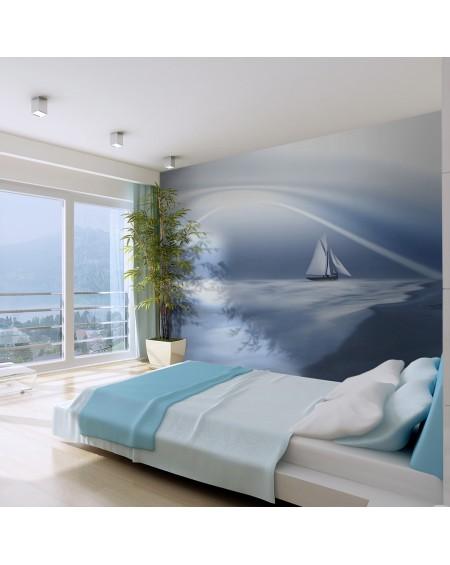 Stenska poslikava - Lonely sail drifting