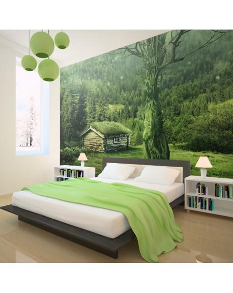 Stenska poslikava Green seclusion