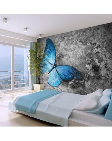 Stenska poslikava Blue butterfly