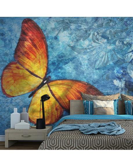 Stenska poslikava Fiery butterfly
