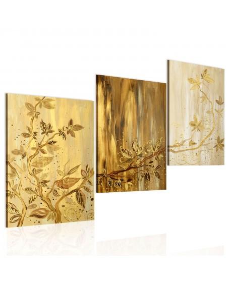 Ročno naslikana slika Golden leaves