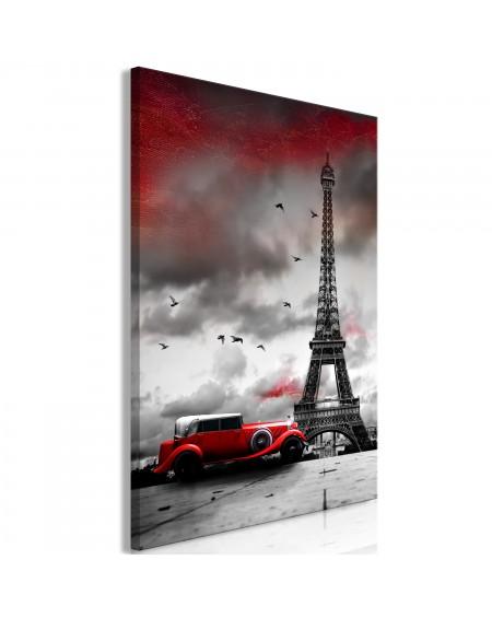 Slika Red Car in Paris (1 Part) Vertical