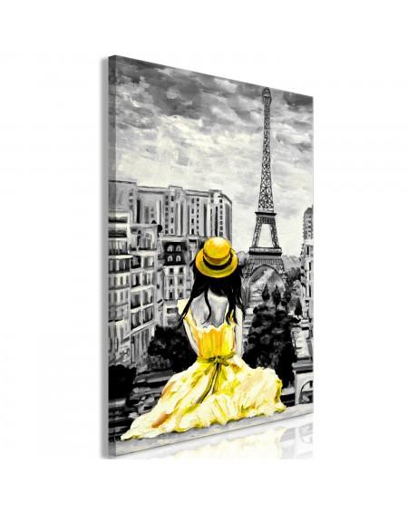Slika Paris Colour (1 Part) Vertical Yellow