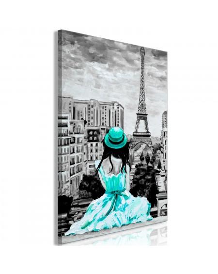 Slika Paris Colour (1 Part) Vertical Green