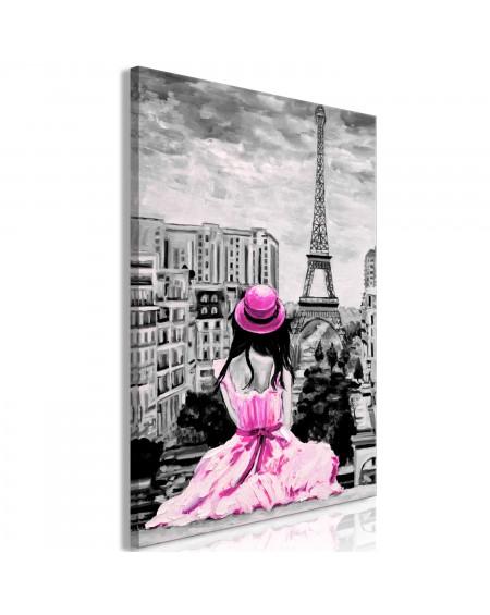 Slika Paris Colour (1 Part) Vertical Pink