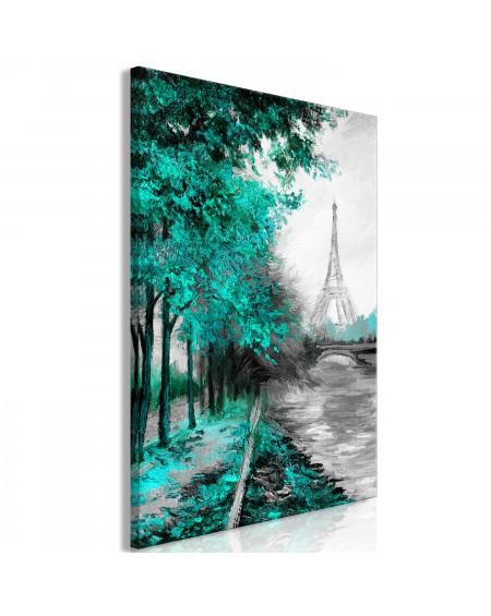 Slika Paris Channel (1 Part) Vertical Green