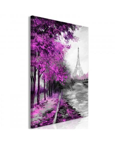 Slika Paris Channel (1 Part) Vertical Pink