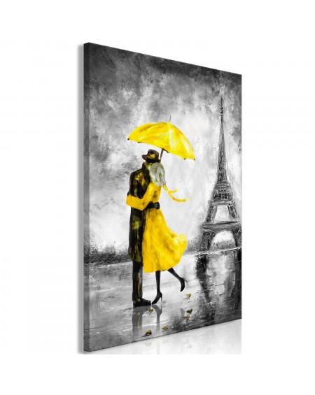 Slika Paris Fog (1 Part) Vertical Yellow
