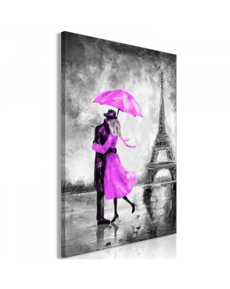 Slika Paris Fog (1 Part) Vertical Pink