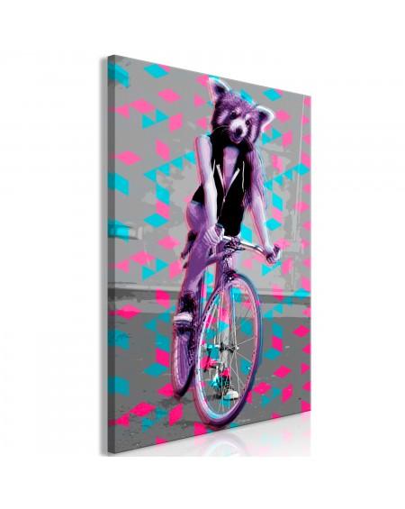Slika Raccoon On The Bike (1 Part) Vertical