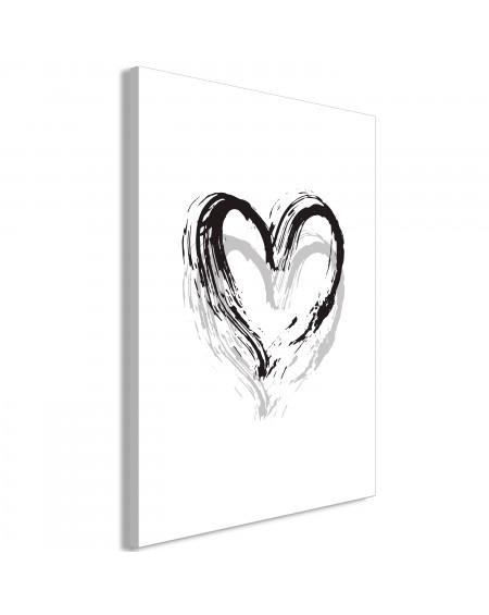 Slika Brush Heart (1 Part) Vertical