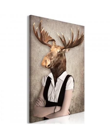 Slika Brainy Moose (1 Part) Vertical