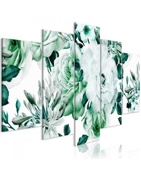 Slika Rose Composition (5 Parts) Wide Green