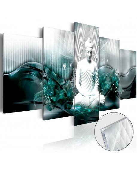 Akrilni tisk Azure Meditation [Glass]
