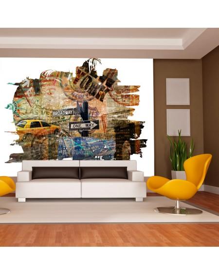 Stenska poslikava - New York collage