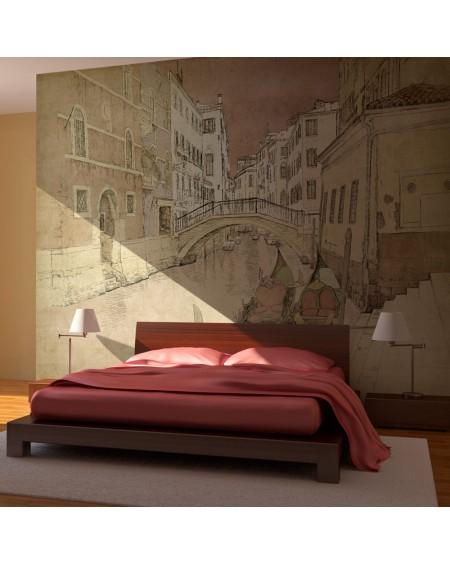 Stenska poslikava - Gondolas in Venice