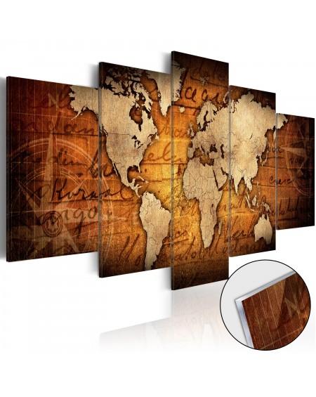 Akrilni tisk Acrylic prints – Bronze map I