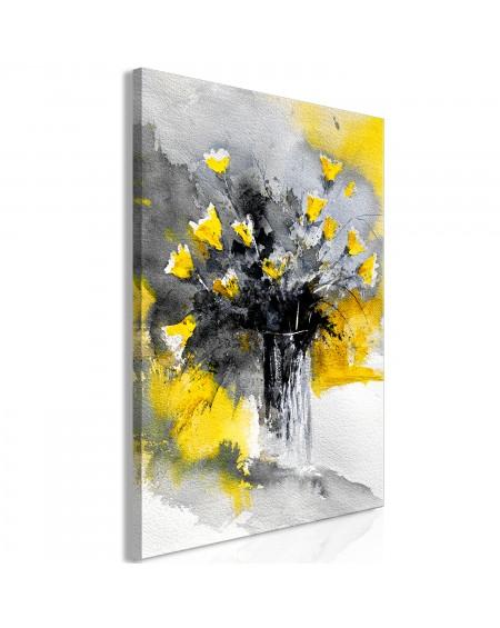 Slika Bouquet of Colours (1 Part) Vertical Yellow
