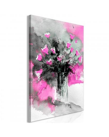 Slika Bouquet of Colours (1 Part) Vertical Pink