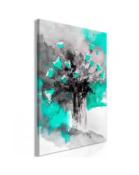Slika Bouquet of Colours (1 Part) Vertical Green