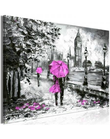 Slika Walk in London (1 Part) Wide Pink