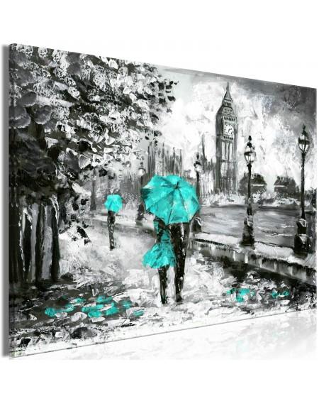 Slika Walk in London (1 Part) Wide Turquoise