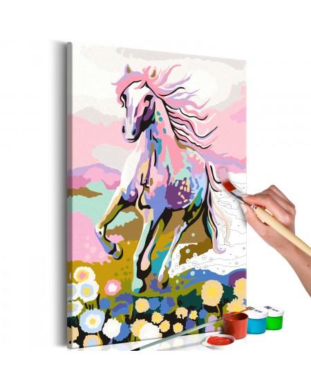 Platno za samostojno slikanje Fairytale Horse