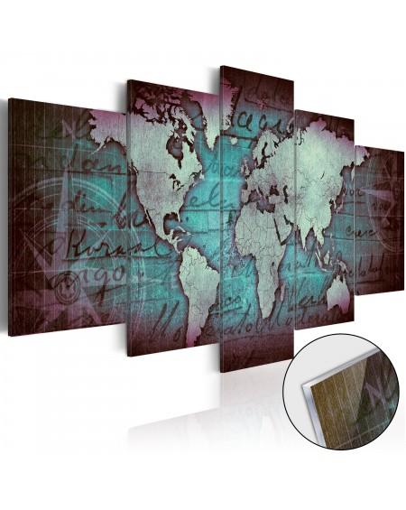 Akrilni tisk Acrylic prints – Bronze map II