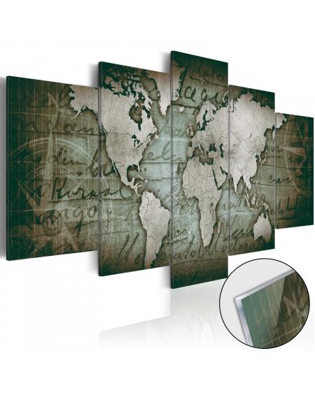 Akrilni tisk Acrylic prints – Bronze map III
