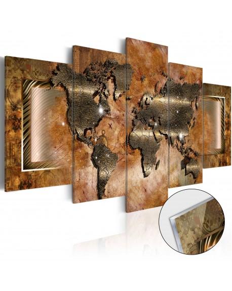 Akrilni tisk Steel Map [Glass]