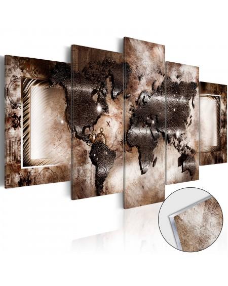 Akrilni tisk Platinum Map [Glass]