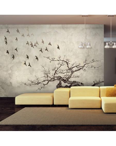 Stenska poslikava Flock of birds