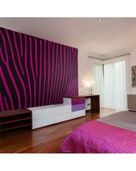 Stenska poslikava - Zebra pattern (violet)
