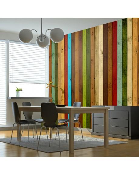 Stenska poslikava Wooden rainbow