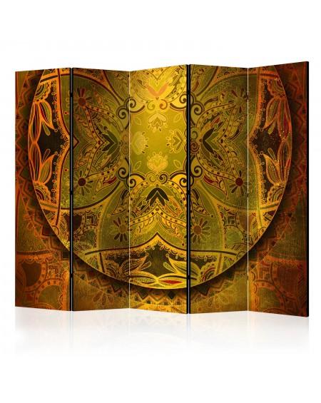 Španska stena Mandala Golden Poem II [Room Dividers]