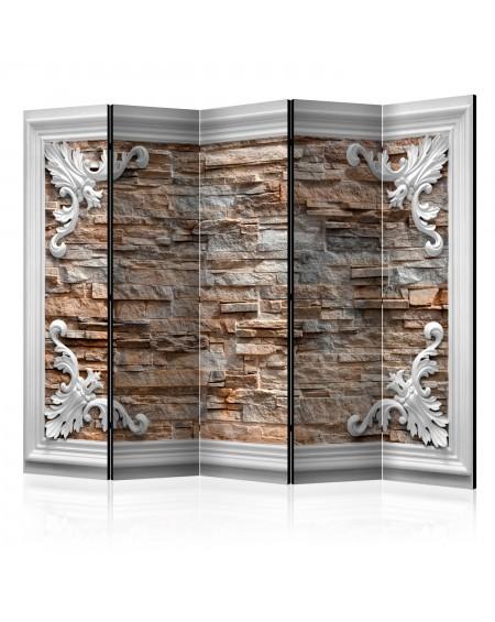 Španska stena Brick in the Frame (Brown) II [Room Dividers]