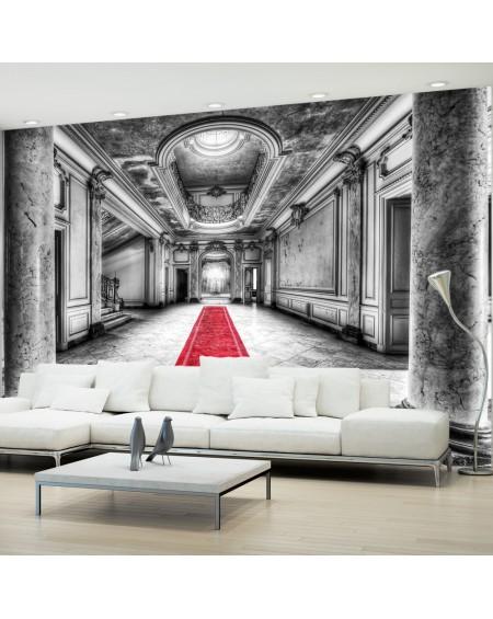 Samolepilna fototapeta Mystery marble black and white